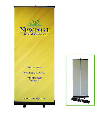 "33"" W x 78"" H Retractable Banner Stand with  Custom Banner Image!"