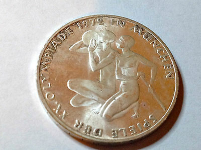 Germany 1972 Uncirculated Silver 10 Marks Munich Olympics