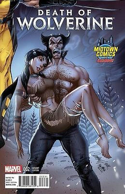 Death Of Wolverine #2 Midtown J Scott Campbell Connecting Variant Marvel NOW 1st