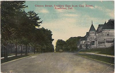 Indiana In Postcard 1914 FRANKFORT CLinton Street Homes