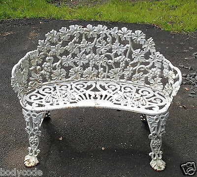 Vintage Antique Cast Iron Bench Patio Garden Love Seat and Chair