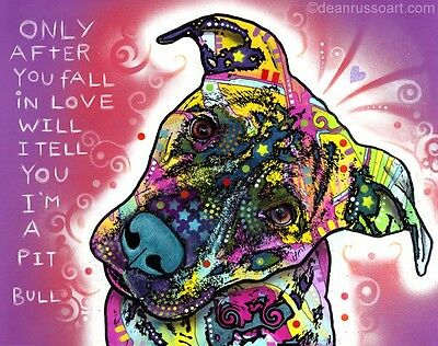 "I'm a Pit Bull 11"" x 14"" Print - Dean Russo (DR021) NEW-FREE FAST SHIPPING"