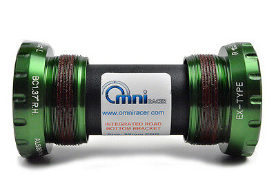OMNI Racer WORLDS LIGHTEST Ti CERAMIC Bottom Bracket Fit Dura Ace Ultegra GREEN