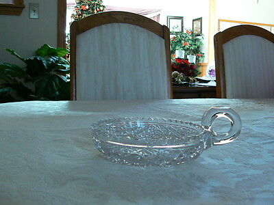 Beautiful Antique Vintage American Brilliant Period Crystal Cut Glass Nappy