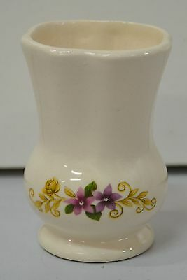 """Small Floral Vase, Home Made? Base Marked """"Linda '83""""  (B2)"""