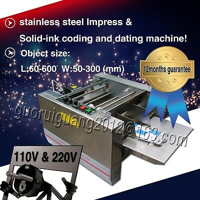 with counter,impress and solid ink printer printing machine for code,date