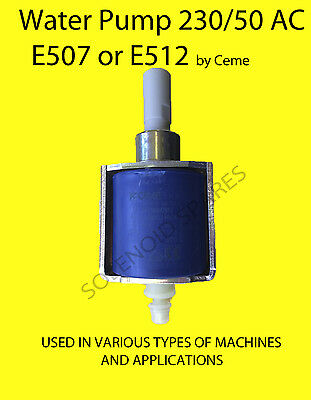 Water pump (Oscillating) 230/50 VOLT by CEME E507 E512 industrial cleaners etc