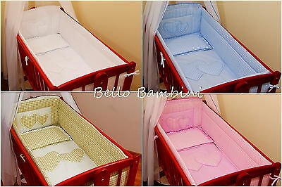 4p Bedding Set /Duvet Duvet Cover/Pillow to fit babySwinging crib/100%  COTTON