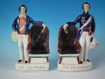 Pair Staffordshire Prince Alfred & Prince of Wales