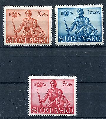 Slovakia Ww2 German Puppet State 1942 Hlinka Guard Scott B8-B10 Perfect Mnh
