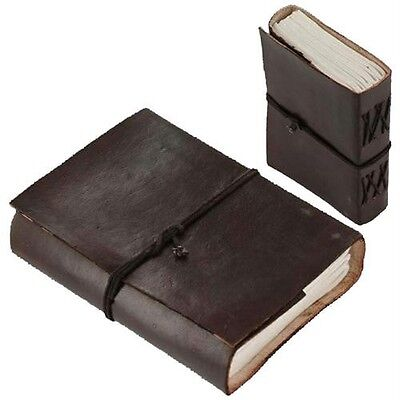 Rustic Pocket Leather Journal Diary (Handmade) W string wraps-FREE GIFT MESSAGE