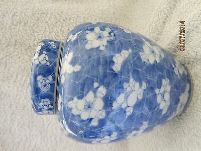 A Chinese export inverted baluster jar and cover