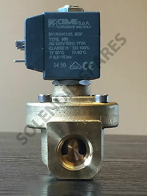 "Solenoid Valves Brass CEME 1/2"" 3/4"" 1"" 2"" 3"" BSP Normaly Closed N/C    UK"