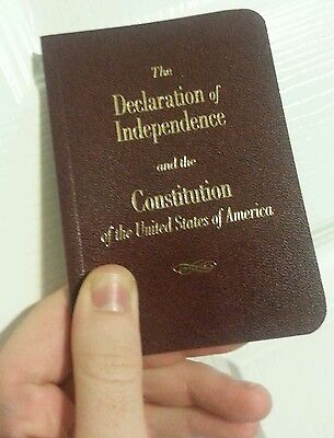 Round Edge Pocket Size United States Declaration Of Independence & Constitution