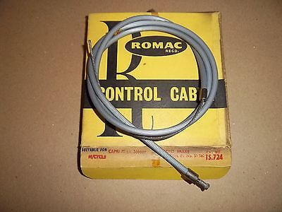 CAPRI 70cc SCOOTER FRONT BRAKE CABLE UK MADE BY ROMAC TS724 51.560