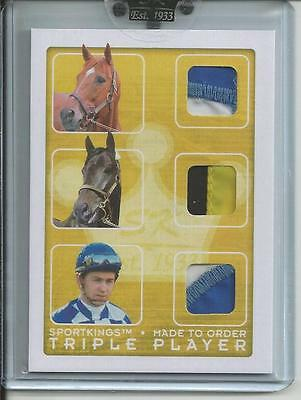 SPORTKINGS C Triple Made to Order: Secretariat - Slew - Ron Turcotte 1/1 Reduced