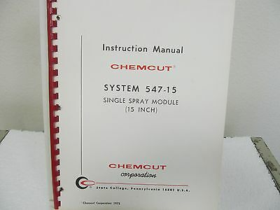 Chemcut System 547-15 Single Spray Module Instruction Manual