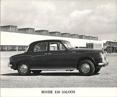 Rover 110 Saloon Period Press Photograph.