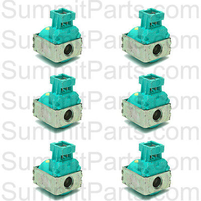 6PK - ORIGINAL ELBI GREEN WATER VALVE COIL 220V FOR WASCOMAT WASHERS 686021