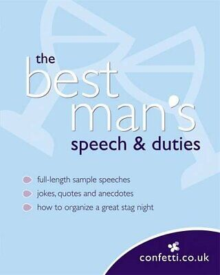Confetti: The Best Man's Speech & Duties by confetti.co.uk Paperback Book The