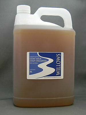 Liquid Castile Goats Milk Soap/shampoo 100% Natural Unscented 5 L Incl P&h