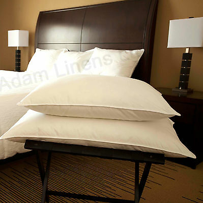 2 x Luxury Duck Feather and Down Pillow With Extra Filling Hotel Quality Pillows