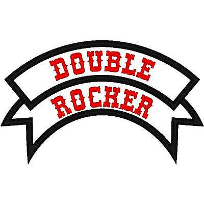 Custom Embroidered Motorcycle Double  Rocker Patch