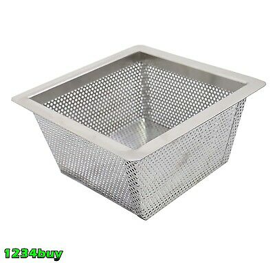 "ACE FS-BS5 Stainless Steel Floor Sink Basket 10""x10""x5""H For 12""x12"" Floor Sink"