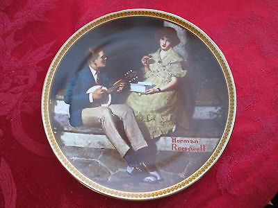 Norman Rockwell Pondering On The Porch  Collector Plate by Edward Knowles