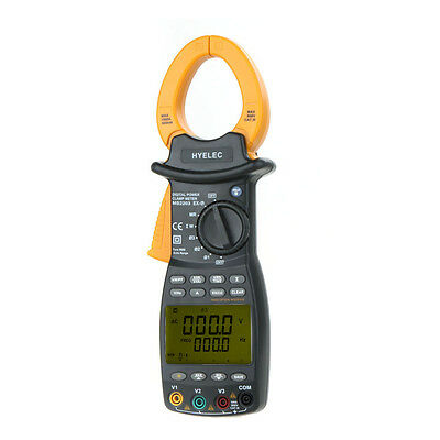 3Phase Clamp Meter Power Factor Correction USB True-RMS 4 Wire Test HYELEC MS220