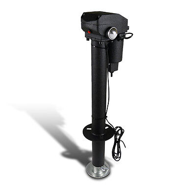 Camper RV Truck 3500Lbs Lift Electric Tongue Jack TraiLer Adjustable w/ LED