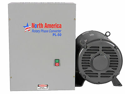 PL-50 Pro-Line 50HP Rotary Phase Converter - Built-In Starter, FREE SHIPPING