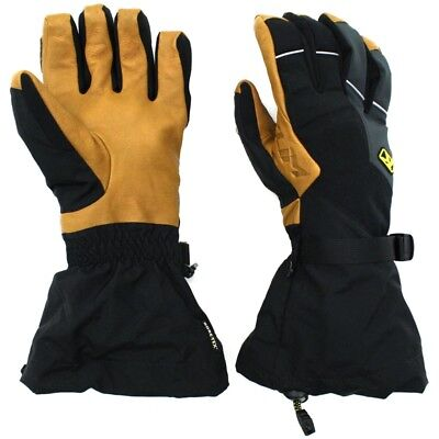 Klim Mens Togwotee Waterproof Breathable Gore-Tex Snowmobile Gloves - Black