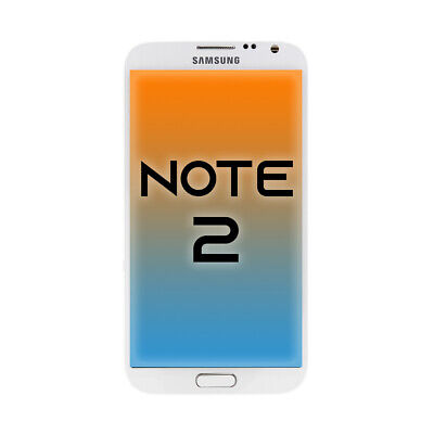 OEM Samsung Galaxy Note 2 LCD + Touch Screen Display Assembly Replacement White