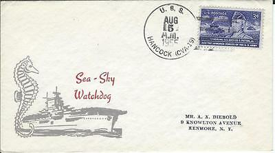 USS Hancock(CVA-19) 5 Aug 1955 Cacheted Cover