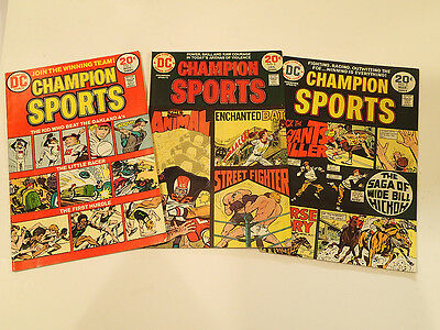 CHAMPION SPORTS lot of 3 issues #1-3 1973 DC Comics VF