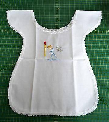 Baptismal Bib, One Size Only, Select Embroidery Style, Candle, Cross, Candle Sh