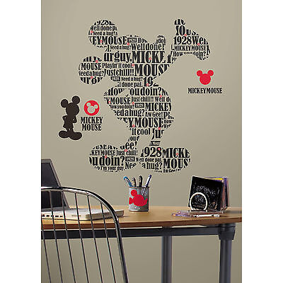 Mickey & Friends Typography Mickey Mouse Peel & Stick Giant Wall Decal