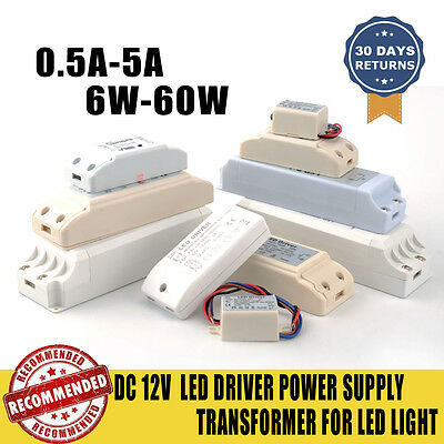 LED Driver Transformer DC 12v-6w, 10W, 18w, 40w, for MR11,MR16 LED Strip 2/5/10X