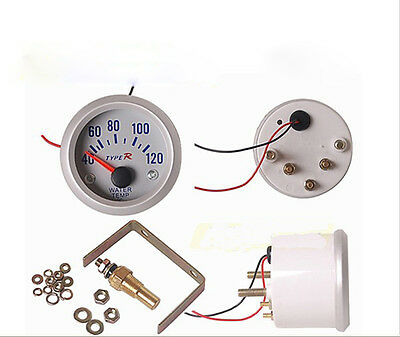 """2"""" 52mm Water Temperature Gauge Tester Meter Kit For Car Auto Truck Motorcycle"""