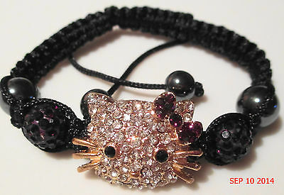 "HELLO KITTY MACRAME ""GOLD FACE"" SEVERAL COLORS-MAKES GREAT GIFT-MINT"