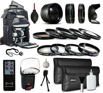 Backpack Lenses Filters Accessories for Canon EOS Rebel SL1 XT XTi XS XSi DSLR