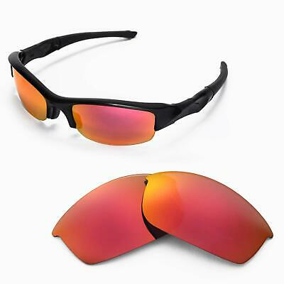 New WL Polarized Fire Red Replacement Lenses For Oakley Flak Jacket Sunglasses