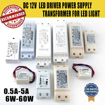 LED Driver Transformer 12V-6w, 10W, 18w, 40w, For DownLight Strip Light