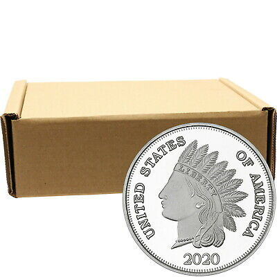 2019 Indian Head Cent by SilverTowne 1oz .999 Silver Medallion (500pc)