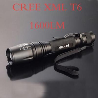 New Zoomable Zoom 5 Modes 1600 Lm CREE XM-L XML T6 LED Flashlight Torch