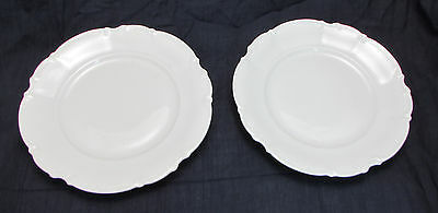 Lot of 2 Beautiful Sylvia Hutschenreuther Gelb LHS Bavaria Germany Salad Plates