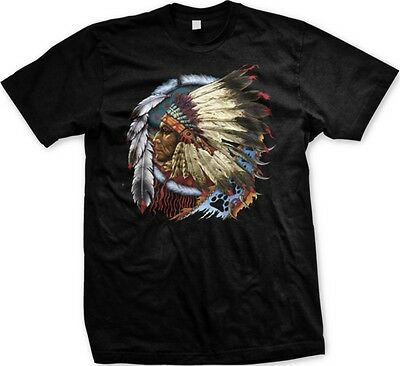 Native American Indian Chief Dream Catcher Spirit Animal -Mens T-shirt