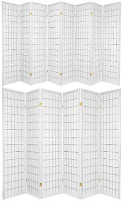 6 and 8 Panel Japanese-Oriental Style Shoji Screen Room Divider White Color