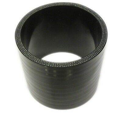 "BLACK Silicone Hose 76mm to 70mm Straight (Silicon) 3"" - 2.75"" (Reducer Joiner)"